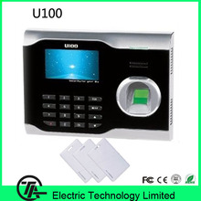 3 inch touch screen U100  RFID card and  fingerprint time clock optical sensor fingerprint  time attendance with TCP/IP