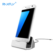 RAXFLY Mini Micro Plug Charging Holder For Samsung Galaxy S6 s7 Edge S5 Note 3 4 5 J3 j5 j7J1 2017 Universal Destop Stand Holder(China)