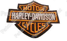 "3"" Motor cycles Orange Embroidered Iron On Patch Logo Hot Rod Drag race Tattoo MC patches Biker Vest Jacket back chest transfer(China)"