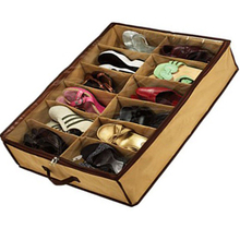 1pcs  Fabric Dustproof Shoes Organizer Case Storage Bag Box Holder For 12 Pairs Shoes 3Xtscg