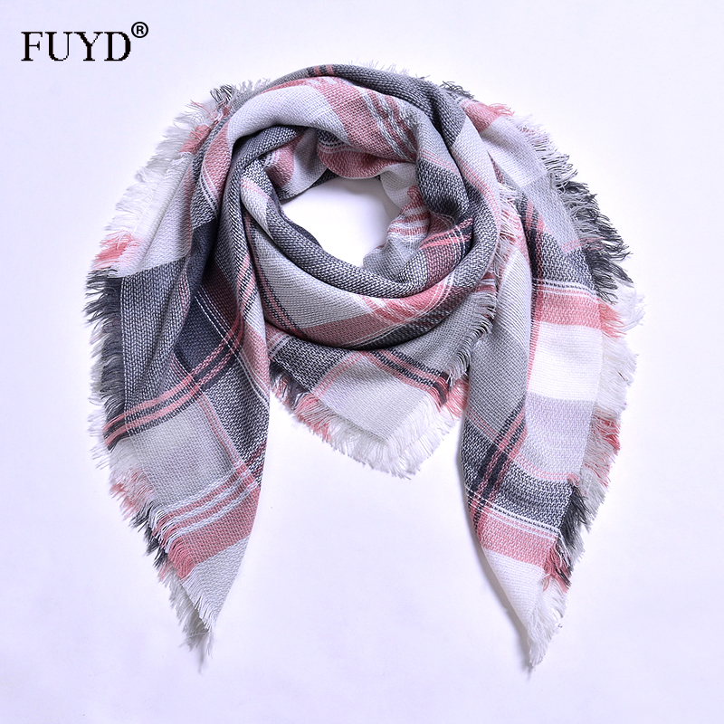 FUYUANDA 2017 Brand Scarf Women Bandana Shawl Poncho Striped Knitted Head Scarf Autumn Winter Wraps Scarves Classial Hijiab(China)