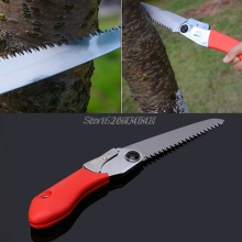 Mini Portable Folding Tool Hacksaws Tree Pruning Garden gardening hand saw Sharp Camping Steels Wooding Trimming Work Tool R08(China)