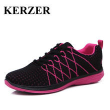 KERZER 2017 New Women Running Shoes 2017 Summer Ladies Sports Shoes Black/Gray Walking Sneakers Women Jogging Shoes For Ladies