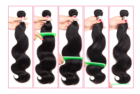 Wonder girl Brazilian Body Wave Hair 100g Human Hair Bundles 1 PC Natural Color Remy Hair Can Be Dyed