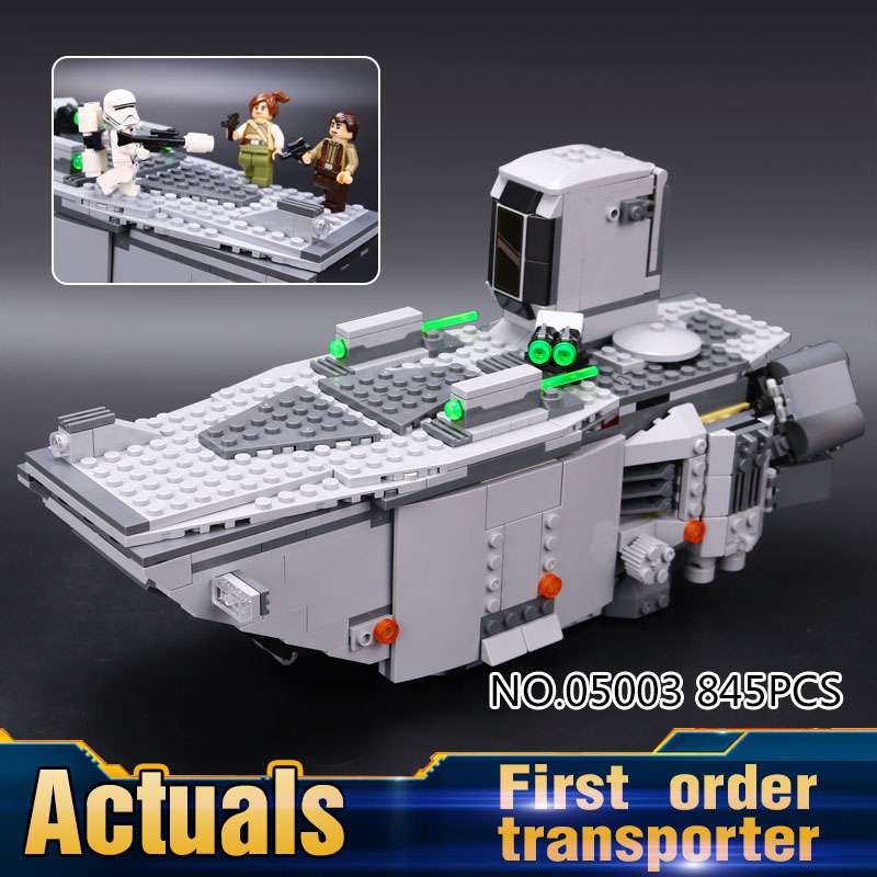 New LEPIN 05003 Star Wars Force Awakens First Order Transporter Toys Building Blocks Marvel classic model  Education toys 75103<br><br>Aliexpress