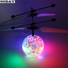 Buy LED Remote Ball Flying RC Drone Helicopter Infrared Induction Mini Aircraft Porcelain Ball Lighting Toy Kids 2 Colors for $6.49 in AliExpress store