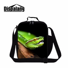Dispalang Small Lunch Box Bag for Children Fashion Snake 3D Pattern Thermal Lunch Bag Cooler Bag for Boys Girls Mini Meal Bags