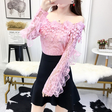 Buy Chemise Femme New Long Sleeve Shirt Women Clothes 2018 Hollow Floral Lace Blouse Office Blouses Korean Fashion Womens Tops for $13.59 in AliExpress store