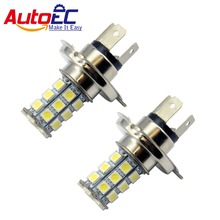 AutoEC 10x H4 27 SMD 5050 led Car Front Head light Fog Light Driving light 12V good quality wholesale and retail(China)
