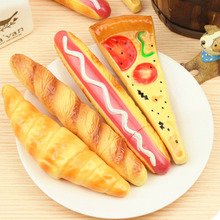 New Black Funny Pizza Ball Pen Creative Simulation Bread BallPoint Pens Stationery Canetas Escolar Material School Supplies 1Pcs(China)