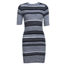 Buy 2017 Autumn Winter Knitting Dress Women Sexy Short Sleeve Party Skinny Casual Knitted Striped Warm Sweaters Dresses for $11.59 in AliExpress store