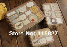 3pc/set Metal Storage Case England style tin box 3pcs iron case candy can biscuit case cake case