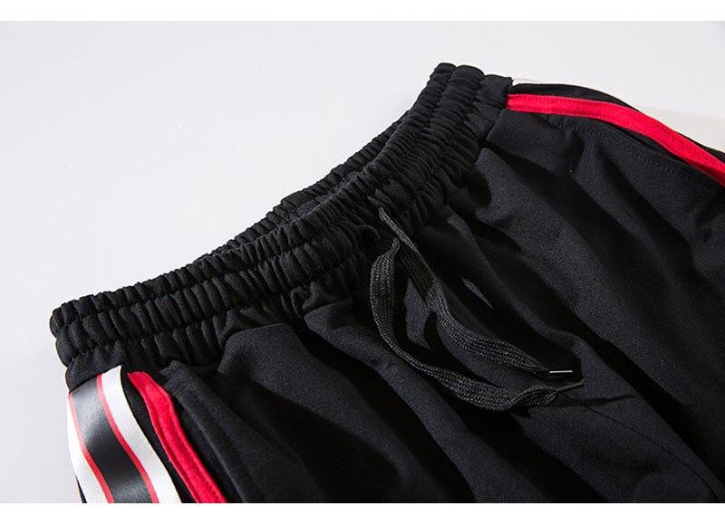 Aolamegs Pants Men Side Striped Pants Track Pants Male Trousers Elastic Waist Fashion High Steet Joggers Sweatpants Streetwear (7)