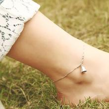 Fashion 925 Silver Lovely Bell Anklets for Women Hot sale Sterling Silver Jewelry Girls Gift Joyas De Plata 925