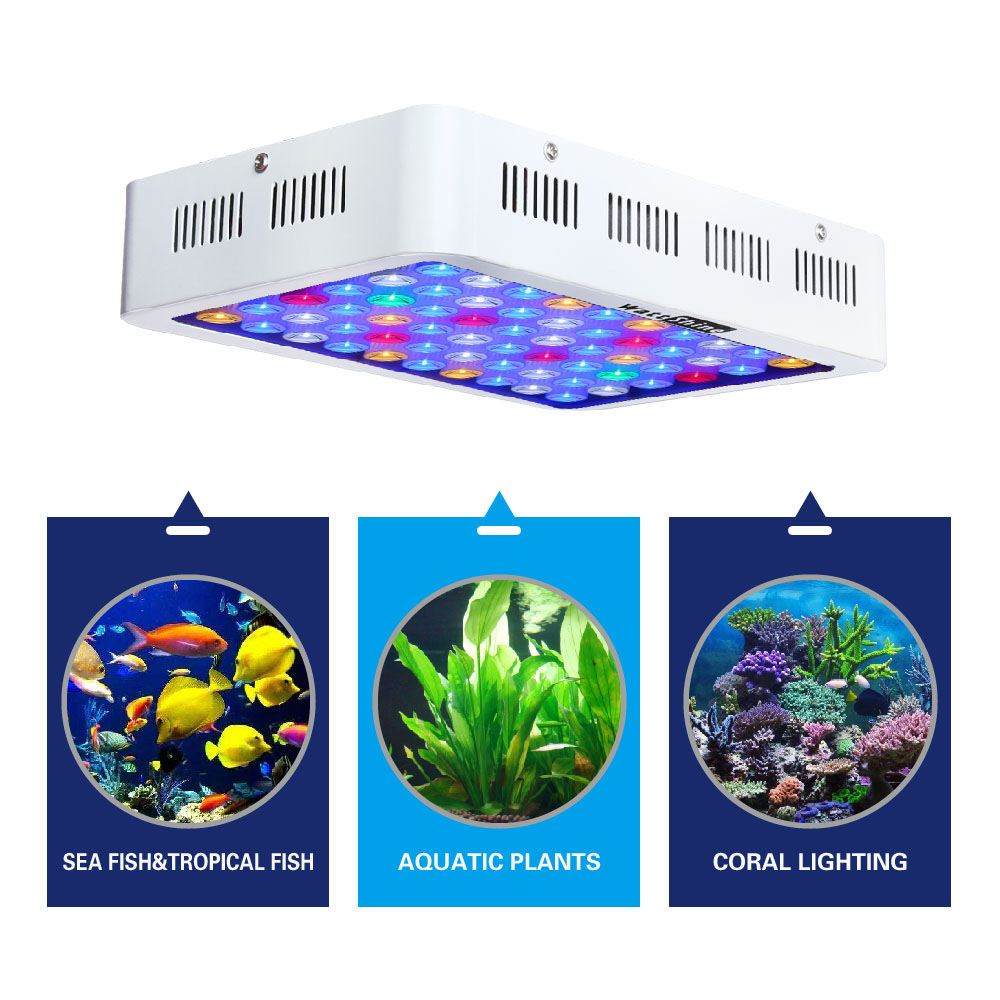 LED Aquarium Light 180W Series Dimmable Full Spectrum For Coral Reef Grow For Plants Fish Tank Aquarium Decorations Include (6)
