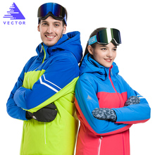 VECTOR Woterproof Ski Jackets Men Women Winter Warm Skiing Snowboarding Jacket Professional  Snow Clothing Brand HXF70009