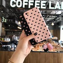 NEW Fashion Cute Cartoon Tassel pendant hard PC love Korean Girl heart charming pink cases for iPhone 6 6s plus 7 7plus cases