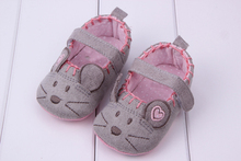 Baby Shoes Cute Little Mouse Pattern Princess Baby Newborn Soft Shoes For Girl Boy Infant Shoes 3 size(China)