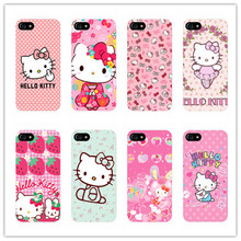 cute cartoon Hello kitty design plastic case For Samsung Galaxy s3 s4 s5 s6 s7 edge phone cover for iphone 5s 5 5c E 6 6s 7 plus(China)