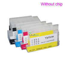 NEW Refillable Cartridge kit for HP 932 933 950 951 711 ciss cartridge XL OfficeJet Pro 6100 6600 6700 7110 7610  without chip