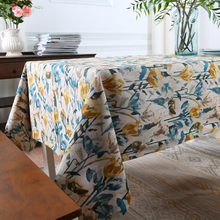 Tulips Paint Tablecloth Cotton Linen Printed Tablecloth  Customize Tablecloth