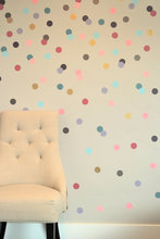 free ship 24pcs 4cm Confetti Polka Dot stickers,removable sticker on cabinet,Girly Brights Metallics VINYL DIY wall art,M2S1