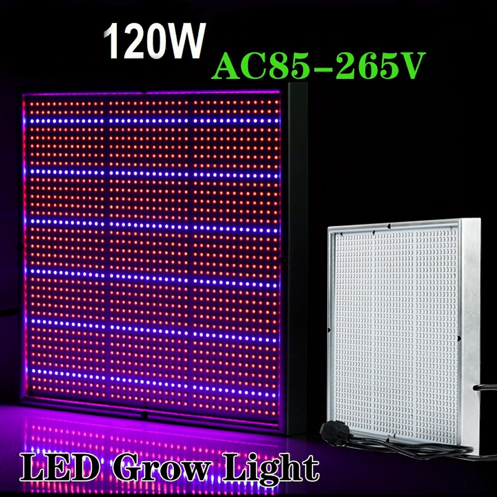 120W 85-265V High Power LED Plant Grow Light Lamp For Vegs Aquarium Garden Horticulture And Hydroponics Grow EU Plug<br>