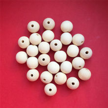Chenkai 100pcs Round 16mm Natural Wooden Beads Unfinished Baby Teether Wooden Teething Jewelry Necklace Beads