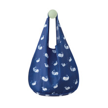 Portable foldable supermarket shopping bag large capacity waterproof bag to buy vegetables portable women flower grid bags 63*46(China)
