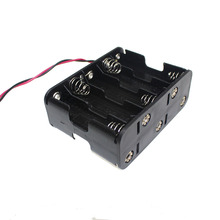 1PCS Cheap 10 X 1.5V AA Back to Back Plastic Battery Holder Battery Storage Box Case Double With Wire Lead For Bike Light