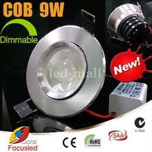 Dimmable 3.5 inch Convex Lens 9W 900LM COB LED Downlights Fixture Recessed Cabinet Ceiling Down Lights Warranty 3years+CE SAA UL