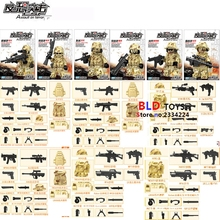 6pcs Guard Against Terrorism SWAT Team Police Officer Tactical Unit Military Army Weapons building blocks figure bricks toys