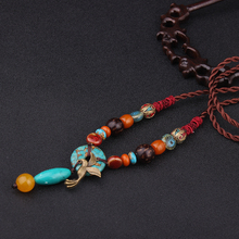 fashion ethnic evade necklace vintgae stones jewelry bodhi canary stone necklace,new handmade nepal necklace(China)