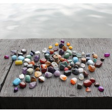 Fengshui Parts Colorful Natural Stones Zen Garden Accessorries Home Garden Decoration