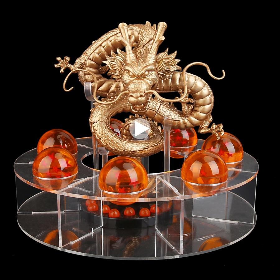 15cm Dragon Ball Z Action Figures Shenron Dragonball Z Figures Set Esferas Del Dragon+7pcs 3.5cm Balls+Shelf Figuras DBZ DS19<br>