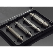 4pcs Set S2 Extractor Remover Drill Bit Disassemble Screws Bolt Stud Slip Teeth Damaged Demolish Nails Tool #1 #2 #3 #4