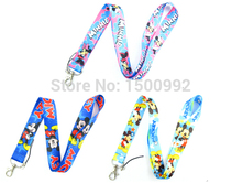 3Pcs Cartoon Mickey Minnie Lanyard/ MP3/4 cell phone/ keychains /Neck Strap Lanyard WHOLESALE 3pcs W7(China)