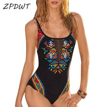 Buy Black Women One Piece Swimsuit Push Bathing Suit High Cut Monokini Mesh Swimwear Push Swimming Suit Sexy Beachwear 2018
