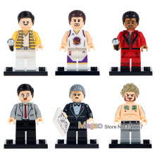 Single Sale WM6018 Mr. Bean The Godfather Gangster Freddie Mercury Stephen Curry Michael Jackson Action Figures Building Blocks(China)