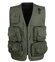 2016   New Arrival Shooting Mesh Vest Men's Quality Causal Travel Vests Director Photographer Vest With Many Pockets vest