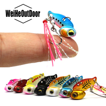 2Pcs Mini VIB Fishing Lure Lead Copper Metal Lure Hard Crankbait Wobber 3g/6g Artificial Bait Carp For Fishing Peche Tackle(China)