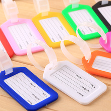 5pcs Creative Solid Luggage Tag Hard PVC Plastic Aircraft Baggage Claim Tag Travel Accessories(China)