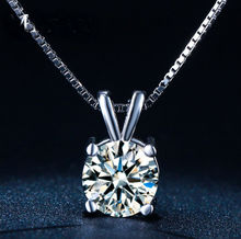 New StereoTransparent stealth necklace Crystal From Swarovski Locks Chain Zircon Necklace Valentine Gift(China)