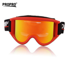 Propro Thermal Skiing Protect Eyewear electroplating film double layer anti-fog Goggles UV protection snowboard glasses eyewear(China)