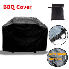 New Black Waterproof BBQ Cover Outdoor Garden Rain Barbecue Grill Protector For Gas Charcoal Electric Barbeque Grill 3 Size