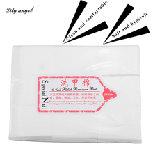 Lily angel 500Pcs Wipes Resurrection Towel Professional Nail Polish Remover Cotton Pads Manicure Tissue Lint-free nail Wipes Z10
