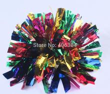 70G two holes 6colors together colorful Cheering pompom Metallic Pom Pom Cheerleading products ballroom costume