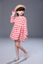 New dresses kids for 3-7 years old girls dress princess kids baby clothes cotton 2017 summer style flower fashion cheap classic