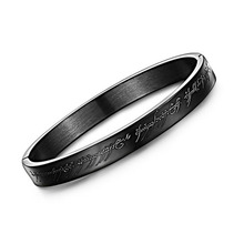 Titanium Steel One Ring of Power Bangle God The Movie of Ring Lord Magic Bracelet Classic Black /silver Color Jewelry(China)