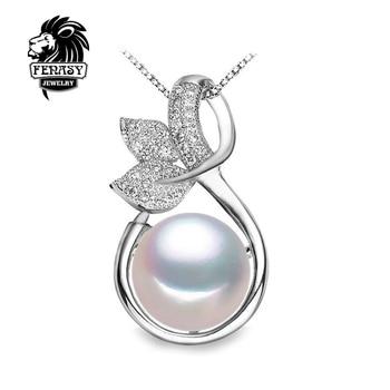 FENASY фея Ожерелье дизайн Жемчужный Кулон, 2016 новый, мода стиль Природных Пресноводного Жемчуга Серебряное Ожерелье Кулон для женщин